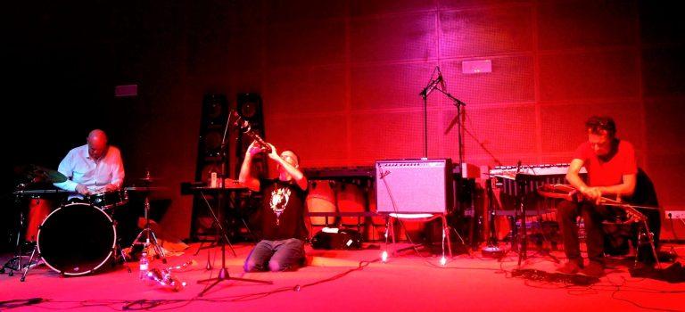 Nuno Rebelo, Luiz Rocha, Wayne Rex, & Pepe Ruz  at Albareda, Barcelona, 8-3-2018 BCN ImproFest
