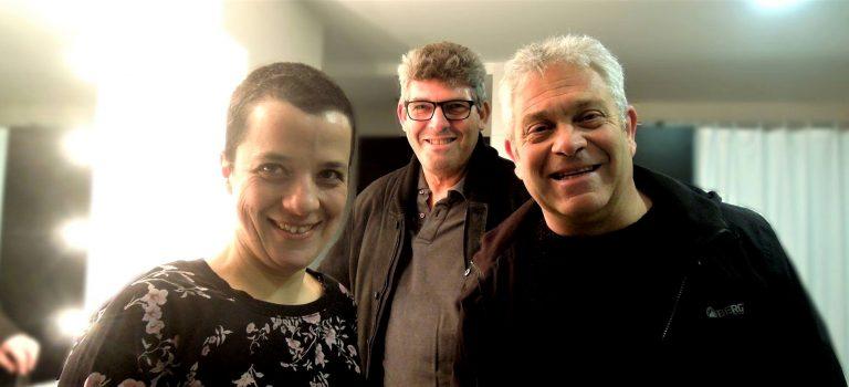 Simoes, Chagas, Borges, at Albareda, Barcelona, 8-3-2018 BCN ImproFest