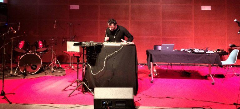 Danio Catanuto at Albareda Barcelona, 6-3-2018; BCN ImproFest 2018.NeOanderthal project.
