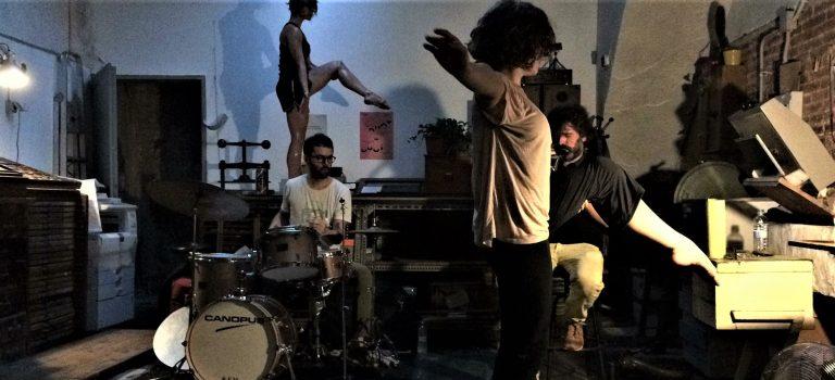 DUOT + DUOT: Tura Coll, Juliette Louste, Albert Cirera, Ramón Prats, at L'Automàtica Barcelona, 13-07-2018.
