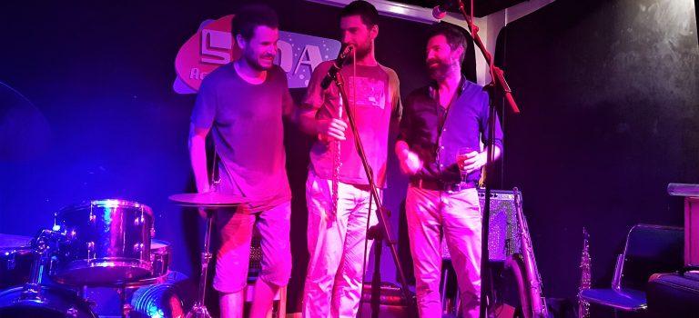 Fernando Brox, Tom Chant, Joni Sigil; at Soda Acústic; 1-8-2018. Nocturna Discordia #178; Third set.