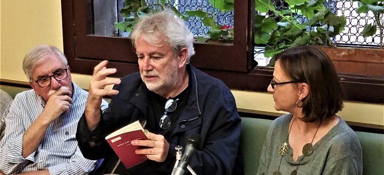 Vespertina # 2 amb Antoni Clapés i Esther Zarraluqui; Lectura de poemes i tertúlia al Caffè San Marco,  24-5-2018.