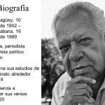Poeta, periodista y activista político cubano. Termina sus estudios de bachillerato alrededor de Comienza a publicar sus versos en 1920.