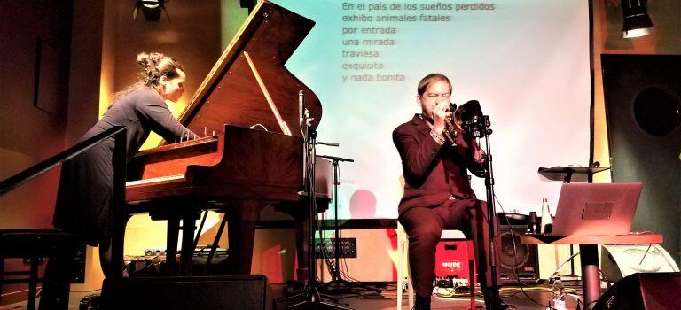 Jordina Millà & Axel Dörner at MMI Festival, Barcelona, 27-10-2019.