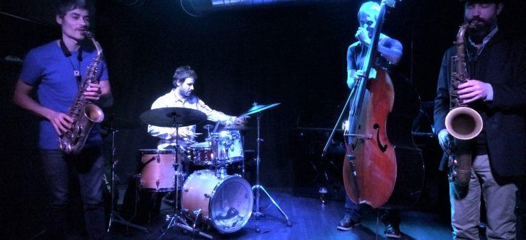 Tom Chant, Don Malfon, Johannes Nästesjö, Oriol Roca, at Sinestesia, Barcelona 12-12-2017