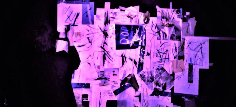 Lena Czerniawska, drawing- Emilio Gordoa, no input mixer, objects- Tom Chant, sax;  Nocturna Discordia #155 – Doble Discordia Part I  at Soda Acústic, Barcelona, 21-02-2018