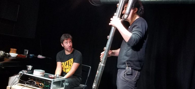 Ángel Faraldo & Julián Elvira at Sinestesia, Barcelona, 1st of May, 2018