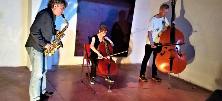 Agustí Martínez, Paloma Carrasco, Johannes Nästesjö, at TepekaleSound, 23-10-2018