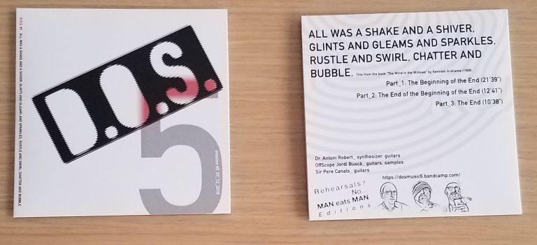 New release: All was a shake and a shiver, glints and gleams and sparkles, rustle and swirl, chatter and bubble, by D.O.S.